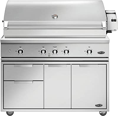 DCS Evolution Freestanding Gas Grill with Rotisserie (BE1-48RC-N-CAD1-48E), 48-Inch, Natural Gas