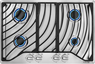 Heavy Duty Cast Iron Grates with Metal Knobs 30 inch Drop in Gas Range Cooktop GASLAND Chef GH1304SF 4 Italy Sabaf Sealed Burner Gas Stovetop 30 Built-in Gas Cooktop 28,300 BTU NG//LPG Convertible