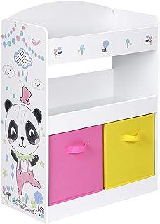 SONGMICS Meuble Enfant, Organisateur Jouets et Livres, Étagère Rangement multifonctionnelle, avec 2 boîtes, étagères, pour...