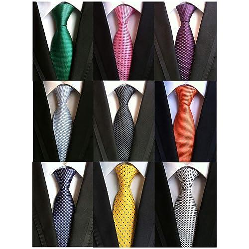 99c41253c0 Welen Lot 9 PCS Classic Men s Tie Necktie Woven JACQUARD Neck Ties