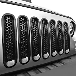 American 4wheel Jeep Wrangler Bug Grill Mesh Insert Bug Screen Insert Grille American USA Flag Jeep Wrangler JK JKU /& Unlimited Rubicon Sahara Sport 2007-2018