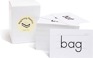 200 Beginning Phonics Flash Cards - CVC and CVCC Short Vowel Word Cards