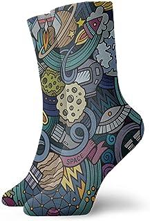 Calcetines casuales Calcetines divertidos de pintura de arte aeroespacial Calcetines de tobillo Calcetines de compresión de vestido corto para mujeres Hombres