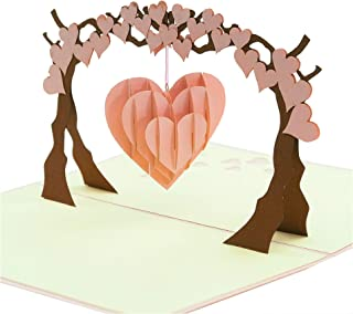 Ninrio pop up card - Love Tree pop up card - Birthday Card, Anniversary Card, Wedding 3D Card, 3D Card, Congratulation Card, Invitation 3D Card, Pop Up Card (1)
