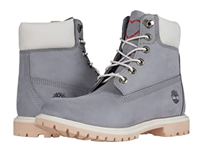 Timberland 6 Premium Boot (Medium Grey Nubuck Love) Women