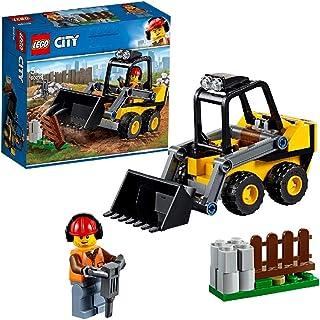 LEGO City Vehicles - Retrocargadora, Grúa de Construcción de juguete, Incluye Minifigura de Obrero (60219)