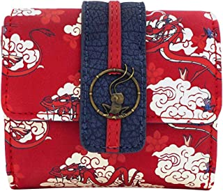 Loungefly x Disney Mulan Mushu Cloud Printed Flap Wallet