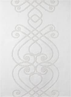 York Wallcoverings Patent Décor 3D PTD9429 Small Violin 3D Wallpaper, White