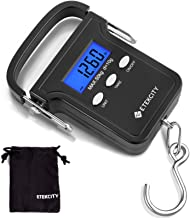 Etekcity Fishing Scale with Backlit LCD Display, 110lb/50kg Digital Electronic Hanging Hook Scale with Batteries and Carry Pouch Included, Non-Slip Handle