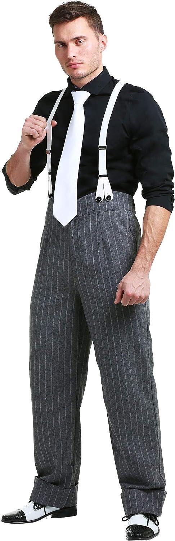 1940s Men's Outfit Inspiration | Costume Ideas Mens Plus Size Mafia Underboss Costume Gangster Outfit  AT vintagedancer.com