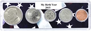 2015-5 Coin Birth Year Set in American Flag Holder Uncirculated