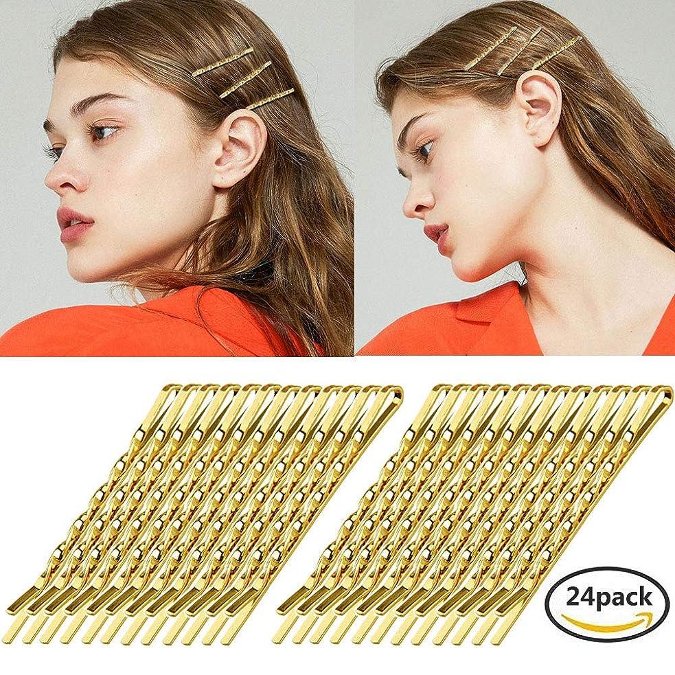 実質的副整理するshefun ヘアピン ゴールド 前髪 ピン アメリカピン 前髪クリップ アレンジピン アメピン 可愛い レディース 女の子 ゴールドピン24枚セット JP151 (A5.5cm)