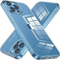 NIMASO 保護殼 iPhone 13 Pro 用 保護套 iPhone13 Pro 適用 保護殼 背面 鋼化玻璃 緩沖 TPU 透明 保護套 6.1英寸用 NSC21H313