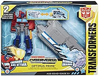 cyberverse optimus prime with trailer
