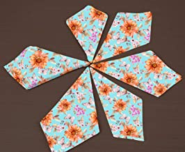 RADANYA Floral Print Cotton Dinner Napkins - for Wedding Party Reception Events Restaurant Kitchen Home