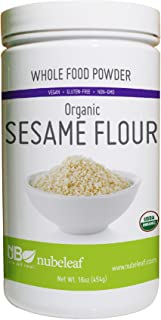 Nubeleaf Sesame Flour Protein Powder 16 Ounce Jar