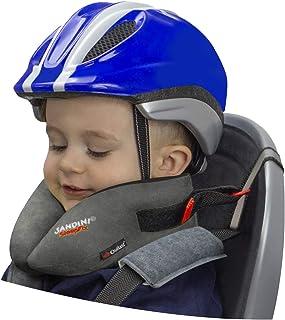SANDINI SleepFix® Kids BIKE – Sovkudde/nackkudde för barn med stödfunktion och temperaturutjämning – Tillbehör till cykelb...