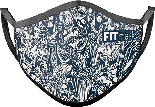 FITmask Mascarilla Reutilizable Lavable Certificada Tejido Hidrófugo Made in Spain Bushido Fusion - Adulto Orejera - L