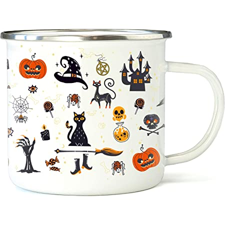 Personalized Halloween Spooky Coffee Travel Mug Stainless Steel 14 oz