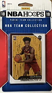 Cleveland Cavaliers 2018 2019 Hoops NBA Basketball Factory Sealed 7 Card Team Set with Collin Sexton Rookie Card and Kevin Love Plus