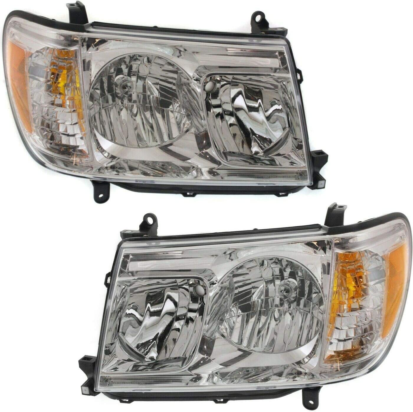 Vooviro Selling Excellent Left and Right Compatible Genuine Headlight Wi Set 2Pc