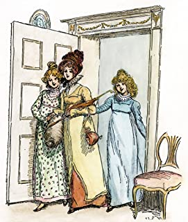 Pride & Prejudice 1894 Nthe Bennet Sisters Kitty And Lydia Along With Charlotte Lucas Enter The Bennet Breakfast Room Illu...