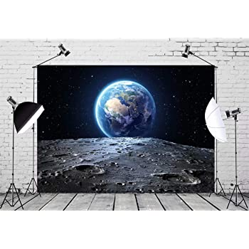 7x10 FT Outer Space Vinyl Photography Background Backdrops,Vibrant UFO on Earth Secret Experiment Climate Change Terrestrial Fiction Background for Photo Backdrop Studio Props Photo Backdrop Wall