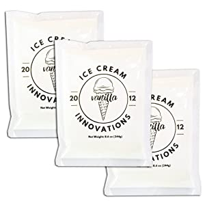 Ice Cream Innovations Vanilla Homemade Ice Cream Mix, 8.6 Ounce Bags (Count of 3)