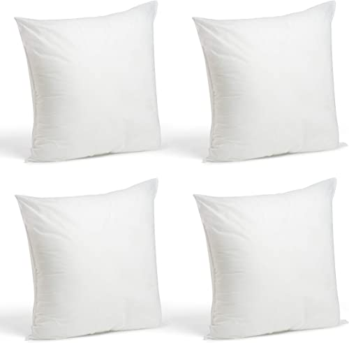 popular Foamily Throw Pillows Insert Set of 4-18 high quality x 18 Insert for Decorative Pillow Covers - Made in USA - Bed wholesale and Couch Pillows outlet online sale