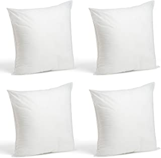 Foamily Set of 4-18 x 18 Premium Hypoallergenic Stuffer Pillow Inserts Sham Square Form..