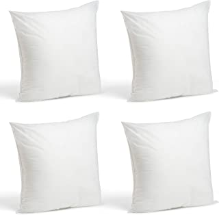 Foamily Set of 4-18 x 18 Premium Hypoallergenic Stuffer Pillow Inserts Sham Square Form Polyester, 18