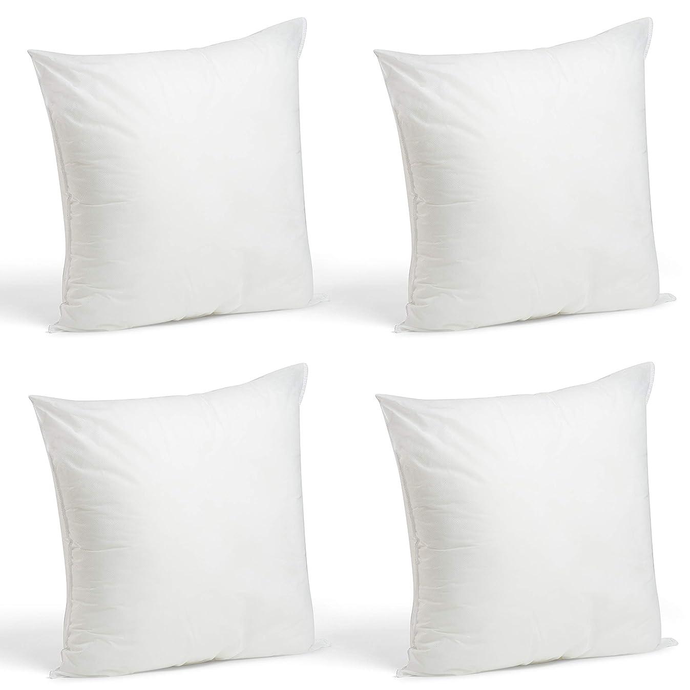 Foamily Set of 4-18 x 18 Premium Hypoallergenic Stuffer Pillow Inserts Sham Square Form Polyester, 18