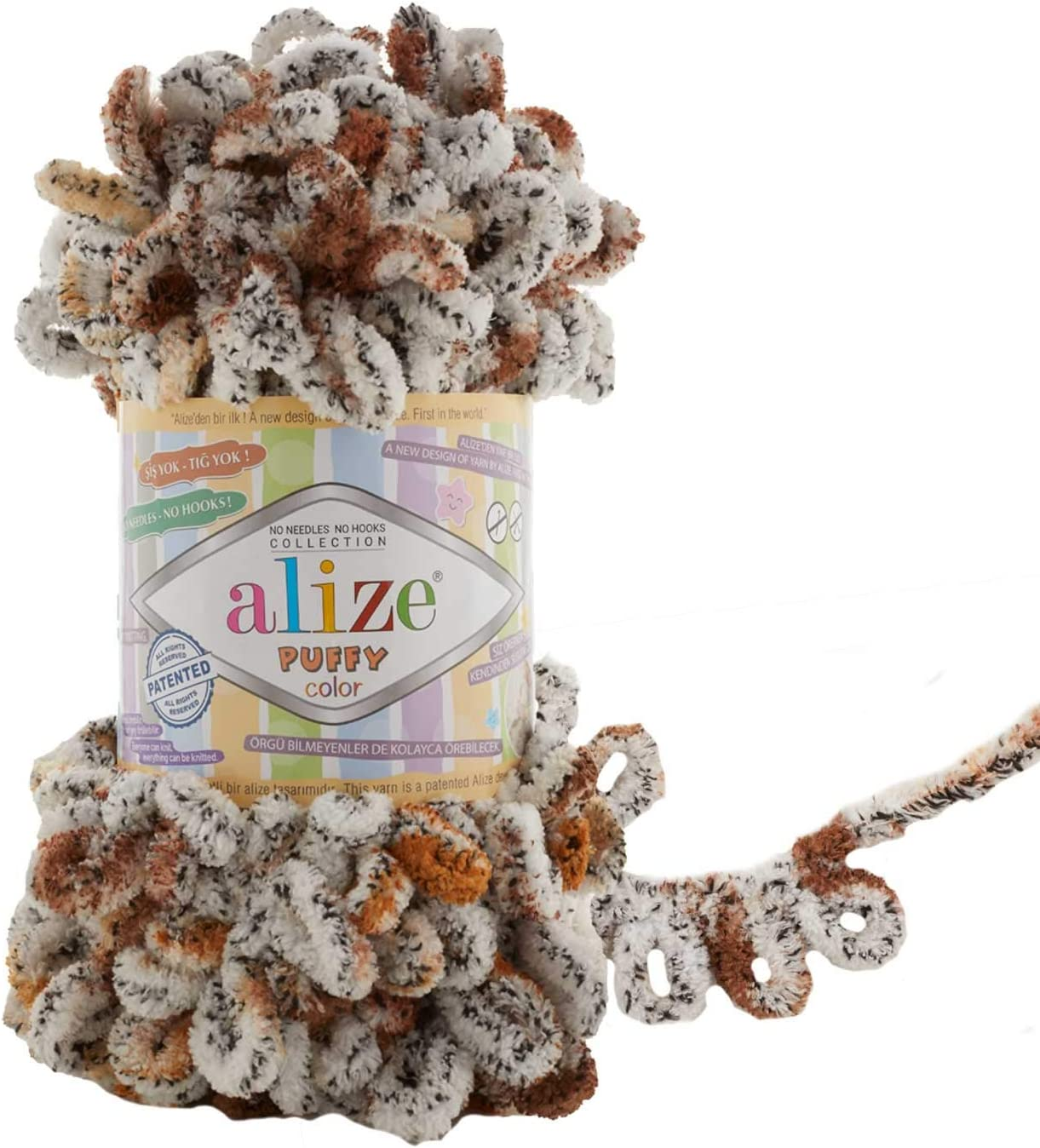 Alize Product Puffy Color 5 ☆ popular Yarn Baby Blanket Lot 500gr of 5 skeins