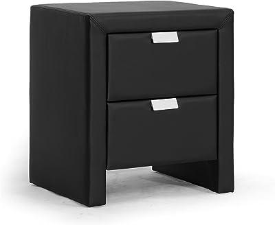 Tvilum 2 Drawer Nightstand Black Matte Furniture Decor