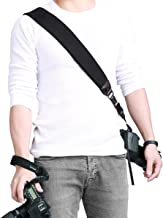 Powerextra Camera Neck Shoulder Strap and Wrist Strap w/Quick Release and Safety Tether Compatible with Nikon Sony Olympus Pentax fujifilm Panasonic Canon Camera SLR DSLR