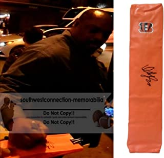Ickey Woods Cincinnati Bengals Autographed Hand Signed Full Size Logo Football Touchdown End Zone Pylon with Exact Proof Photo of Signing and COA