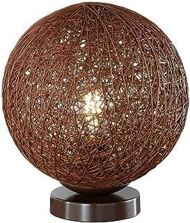 TADANO - Lámpara de mesa redonda (25 cm de diámetro), color marrón