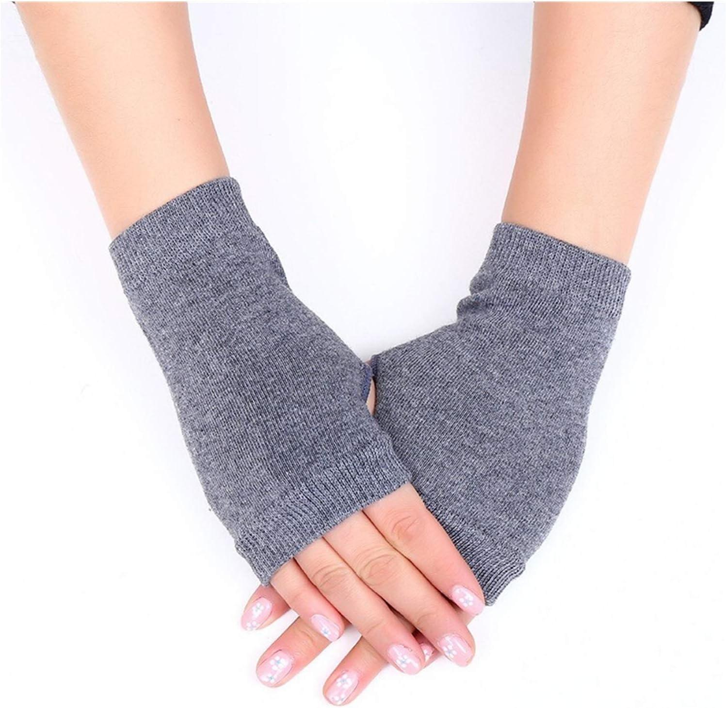 Jiaye Gloves Cute Cat Paw Fluffy Claw Fingerless Gloves Warm Soft Plush Fingerless Panda Glove Half Finger Women Winter Wear (Color : Chocolate)