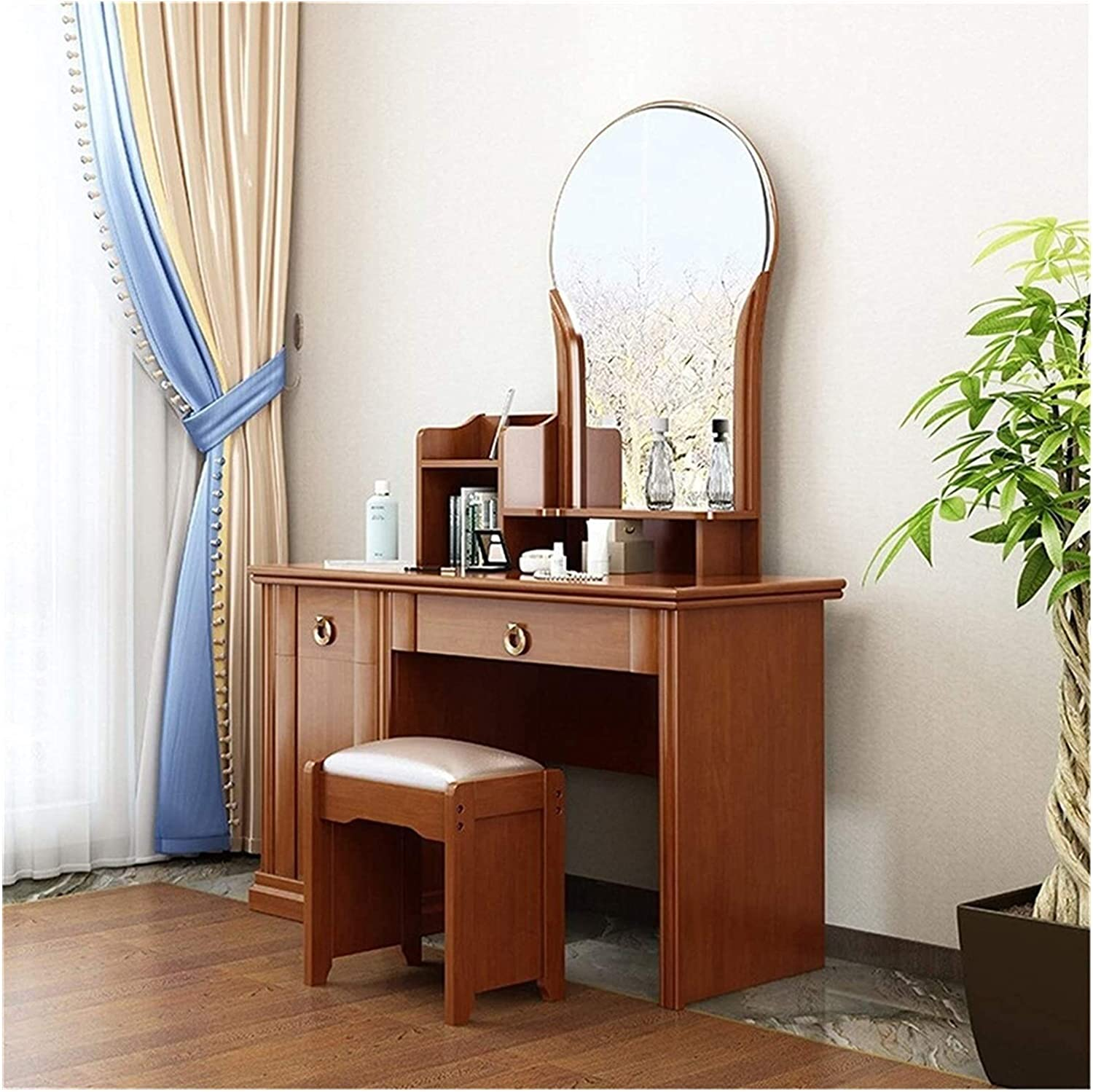 LLNN Simple Boston Mall and Stylish Makeup Max 46% OFF Vanity Set Ma 2 in 1 for Bedroom