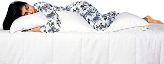 SleepyCat Cuddle Pillow with Free Pillow Case | Body Pillow for Ideal Support | Down Alternative Pillow Covered with Luxe ...