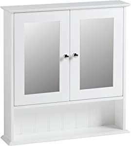 VonHaus Armadietto Stile Coloniale con Specchio per il Bagno