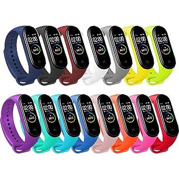 BANGTING 15PCS Cinturino Compatibile con Xiaomi Mi Band 3/4, Orologio da Braccialetto di Ricambio per Smartwatch Mi Band 4 Bracciale Bracciali Smartband Mi Band 3 Cinturini Silicone Colorati