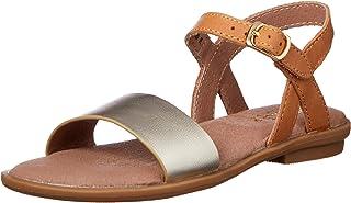 Clarks Girls' Harper II Fashion Sandals, Tan/Gold