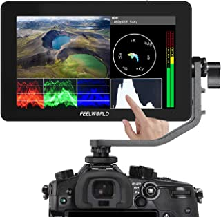 Feelworld F6 Plus タッチスクリーン 液晶フィールドモニター カメラ用外部撮影モニター 3D Lut搭載 5.5インチIPS 1920X1080 HDオンカメラビデオモニター4K HDMI信号入力 カメラ撮影確認用【日本語設定&...