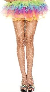Sky Hosiery Women's Plus Size Seamless Fence Net Spandex Pantyhose