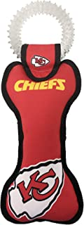 Pets First NFL Kansas City Chiefs Dental Dog TUG Toy with Squeaker. Tough PET Toy for Healthy Fun, Teething & Cleaning Pe...