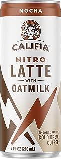 Califia Farms Mocha Oatmilk Nitro Draft Latte Cold Brew Coffee, 7 Oz (12 Cans) | Dairy Free | Gluten Free | On-the-Go | Clean Energy | Plant Based | Non-GMO