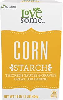 LoveSome Corn Starch, 16 Ounce (Pack of 12)