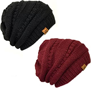 AllyDrew Winter Thick Knit Slouchy Beanie (Set of 2)