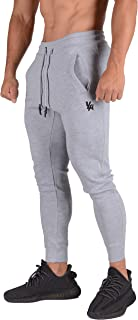 Mens Joggers Slim Fit Fitness Training Athletic Gym Pants 222